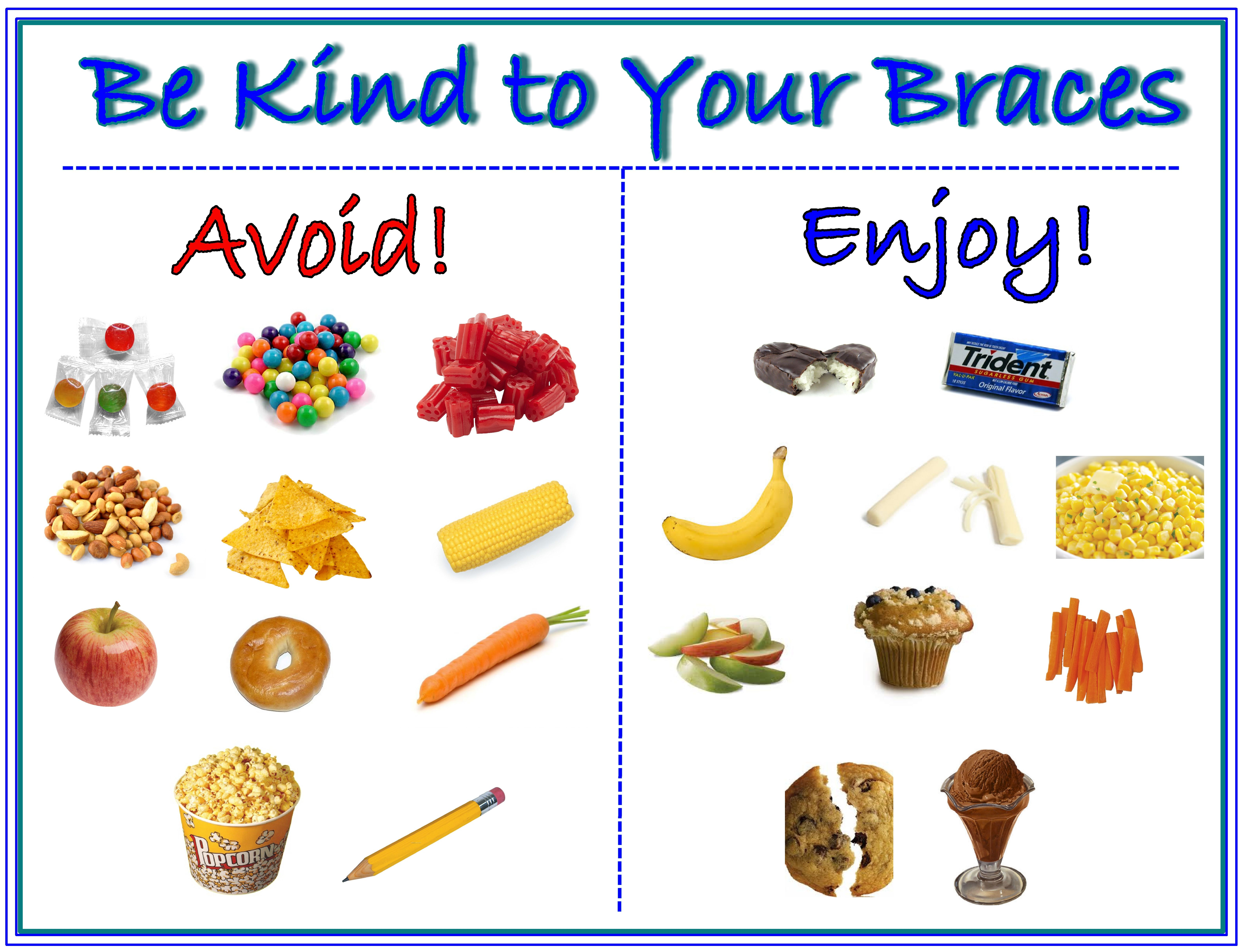 What Foods Can You Eat When You First Get Braces
