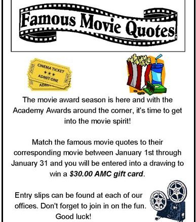 Participate in the chance to win $30 AMC gift card is here.