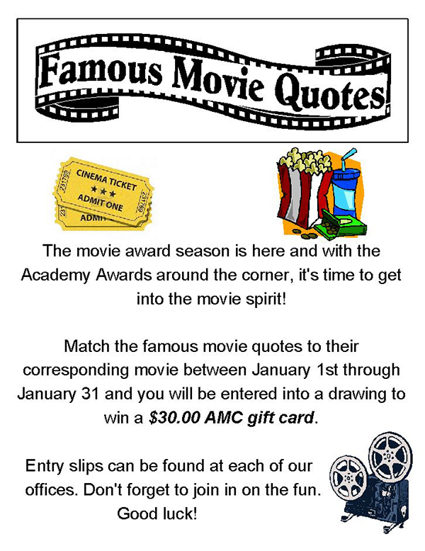 Famous Movie Quotes Contest