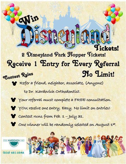 Win Disneyland Tickets