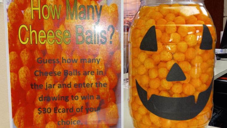 Cheese ball in Jack-O-Lantern